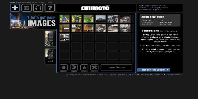 animoto video tool